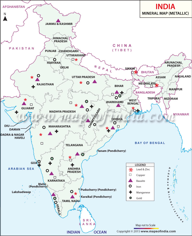 Mineral Distribution in India
